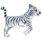 Шар (14''/36 см) Мини-фигура, Тигр, Белый, 1 шт.
